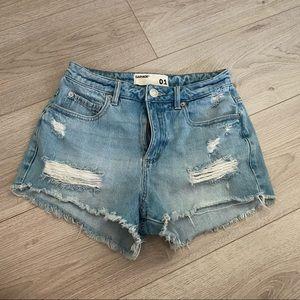 Garage denim festival shorts